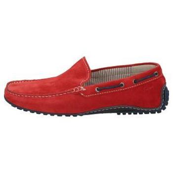 Chaussures Homme Mocassins Sioux Callimo Velour rouge