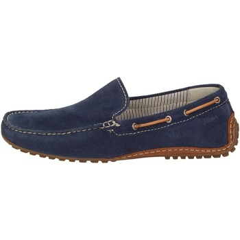 Chaussures Homme Mocassins Sioux Callimo Velour marine