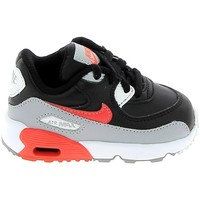 Chaussures Enfant Baskets basses Nike Air Max 90 lea BB Gris Rouge 833416-024 Gris
