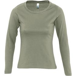 Vêtements Femme T-shirts manches longues Sols MAJESTIC COLORS GIRL Verde