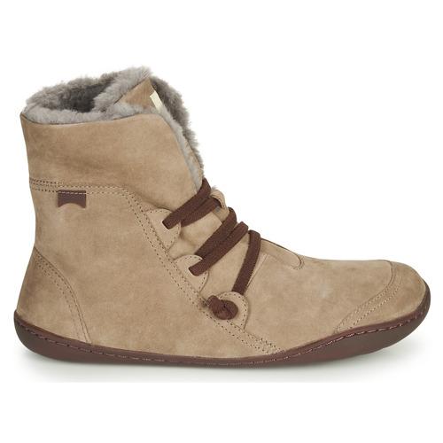Beige Cami Peu Camper Femme Boots zVUpSM
