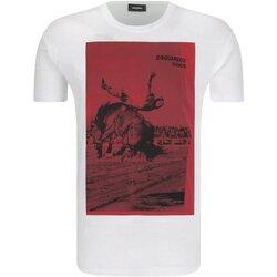 Vêtements Homme T-shirts manches courtes Dsquared S71GD0712 Blanc