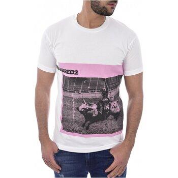 Vêtements Homme T-shirts manches courtes Dsquared S71GD0713 Blanc