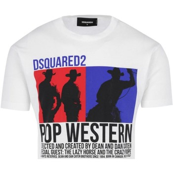 Vêtements Homme T-shirts manches courtes Dsquared Tee Shirt Coton Printé Logo S71gd0720  - les BLANCS