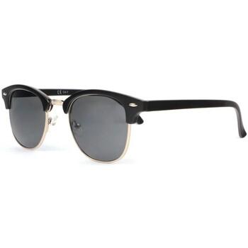 Montres & Bijoux Lunettes de soleil Eye Wear Lunettes de soleil retro noir mat argent Clubya Noir