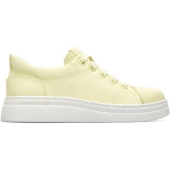 Chaussures Fille Baskets basses Camper Baskets cuir RUNNER UP jaune
