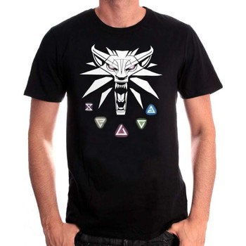 Vêtements Homme T-shirts manches courtes Jinx T-shirt The Witcher 3 - Signs of the Witcher Noir