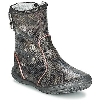 Chaussures Fille Bottes ville Catimini CLABAUD Bronze / Noir