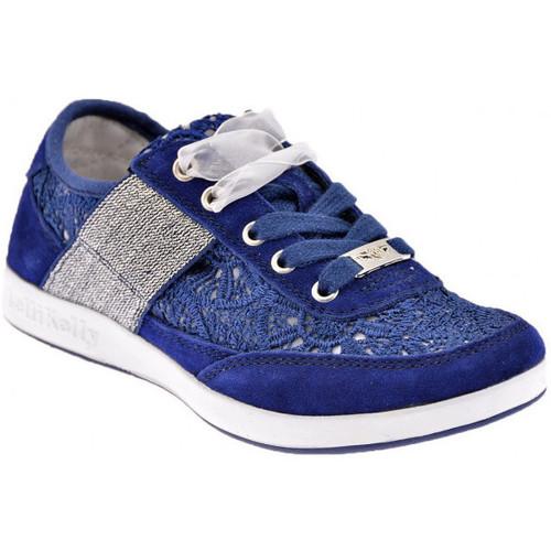Chaussures Enfant Baskets basses Lelli Kelly Californa Macramè Baskets basses bleu