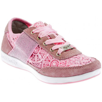Chaussures Enfant Baskets basses Lelli Kelly Californa Macramè Baskets basses rose