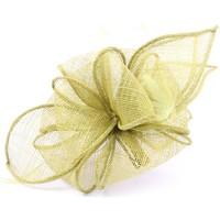 Accessoires textile Femme Chapeaux Léon Montane Coiffe Cérémonie Giroflier en sisal Anis Vert