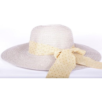 Chapeaux Nyls Création Chapeau cérémonie Storie en mottled Marron Taupe