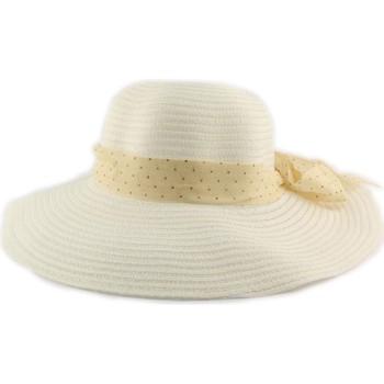 Accessoires textile Femme Chapeaux Nyls Création Chapeau cérémonie Storie en mottled Blanche Blanc