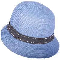Chapeaux Nyls Création Chapeau cérémonie Coco en mottled Bleu