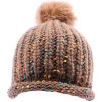 Accessoires textile Homme Bonnets Nyls Création Bonnet  Luce en mélangé marron Marron