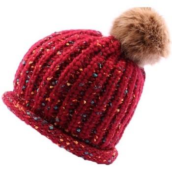 Bonnets Nyls Création Bonnet  Luce en mélangé Rouge