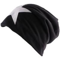 Accessoires textile Homme Bonnets Divers Bonnet Biker oversize Noir avec étoile Noir