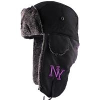 Accessoires textile Homme Bonnets Hip Hop Honour Chapka NY Noire Mat avec broderie Noir