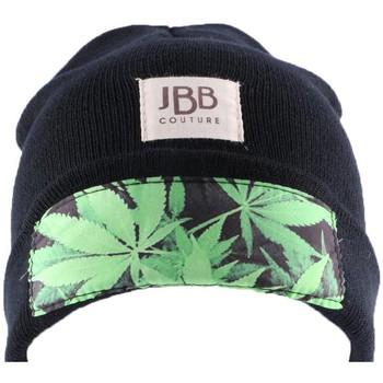 Bonnets Jbb Couture Bonnet  Noir avec revers et impression