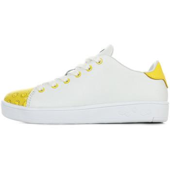Chaussures Enfant Baskets mode Smiley Enjoy blanc