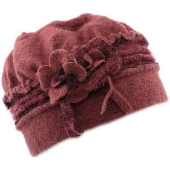 Chapeaux Léon Montane Toque femme en laine bouillie en coloris rose