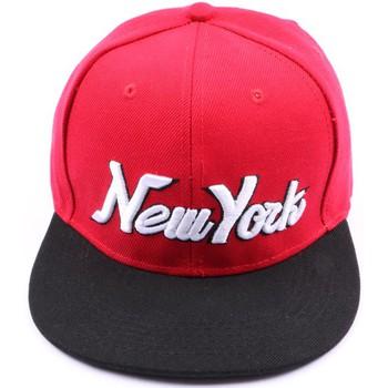 Accessoires textile Homme Casquettes Hip Hop Honour Snapback rouge et noir Rouge