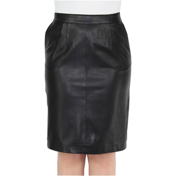 Vêtements Femme Jupes Oakwood Jupe Mikado  Anna en cuir ref_cco44541 Noir Noir