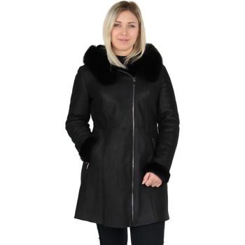 Vêtements Femme Manteaux Pallas Cuir Manteau  Genius en cuir ref_44043 Noir noir