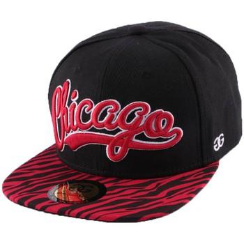 Accessoires textile Homme Casquettes Coke Boys Snapback  Chicago visière zèbre Rouge Noir