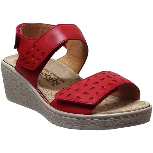 6e63ad67058ddd Chaussures Femme Sandales et Nu-pieds Mobils By Mephisto Penny perf Rouge  cuir