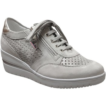 Chaussures Femme Richelieu Mobils By Mephisto Precilia perf Gris clair cuir