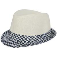 Chapeaux Nyls Création Trilby Sunriver Beige et Bleu Taille unique
