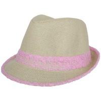 Chapeaux Nyls Création Trilby Whistler Beige et Rose Taille unique