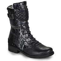 Chaussures Fille Bottes ville Ikks KIMBERLEY Noir