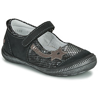 Chaussures Fille Ballerines / babies GBB NYOKO Noir / Argenté