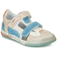 Chaussures Garçon Baskets basses GBB PRINCE Blanc / Beige / Bleu