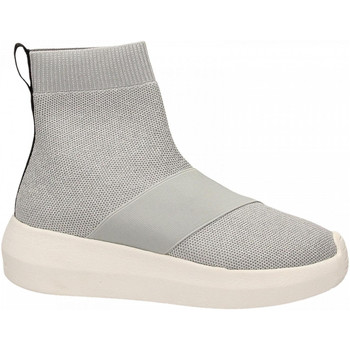 Chaussures Femme Baskets montantes Fessura HI-TWINS KNIT silver-ice