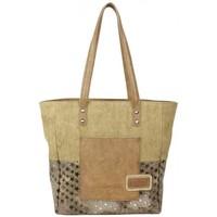 Sacs Femme Cabas / Sacs shopping Patrick Blanc Sac cabas  toile et étoile Taupe Marron