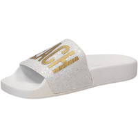 Chaussures Femme Claquettes The White Brand GLITTER BEACH PLEASE white-bianco