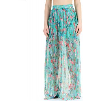 Vêtements Femme Jupes Luckylu MAXI GONNA PLISSE 0395-verde-menta