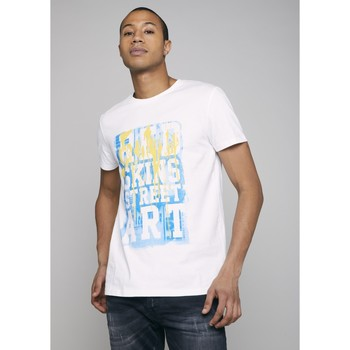 Vêtements Homme T-shirts manches courtes Redskins T-shirt SYNDROM FORMATION Blanc