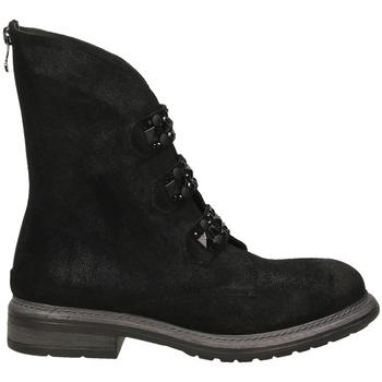 Chaussures Femme Boots Poesie Veneziane BLITZ nero-nero