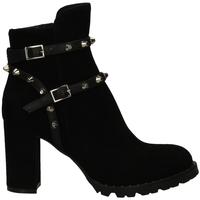 Chaussures Femme Boots Mivida CAMOSCIO/NAPPA nero-nero