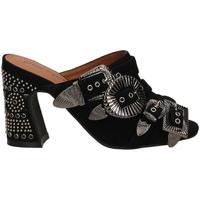 Chaussures Femme Mules Jeffrey Campbell JCS FANTA-JWL SUEDE black-nero