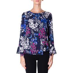 Vêtements Femme Chemises / Chemisiers Luckylu BLUSA STMPA CON PENN 0405-navy