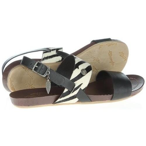 d74c692228964 Chaussures Femme Sandales et Nu-pieds Wrangler Lola Safary WL141652-62  czarny