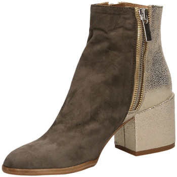 Chaussures Femme Bottines Salvador Ribes CAMOSCIO CRACK taupe-taupe