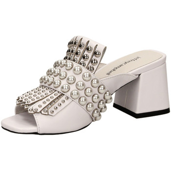 Chaussures Femme Mules Jeffrey Campbell LENOIR ST LEATHER white-bianco