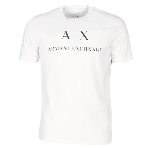 Vêtements Homme T-shirts manches courtes Armani Exchange HERSTO Blanc