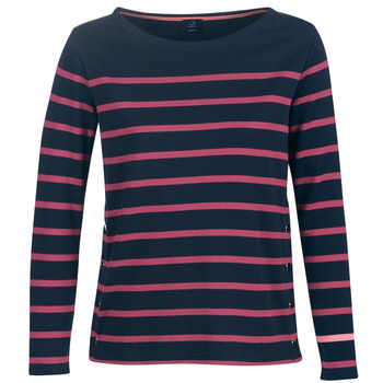 Vêtements Femme T-shirts manches longues Armor Lux BRIAN Marine / Rose